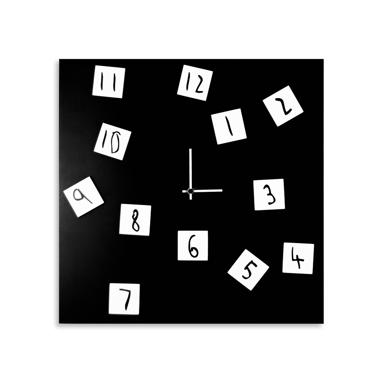 Changing clock: modern, big wall clock. Italian Design