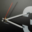 Minimal: modern, big wall clock. Italian Design