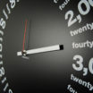 Only Hours: modern, big wall clock. Italian Design