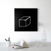 Cube: modern, big wall clock. Italian Design
