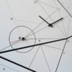 Time line: modern, big wall clock. Italian Design