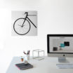 Bike: modern, big wall clock. Italian Design