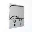 CINQUINO  Orologio da parete di Design- Lavagna Magnetica