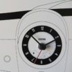 Cinquino: modern, big wall clock. Italian Design