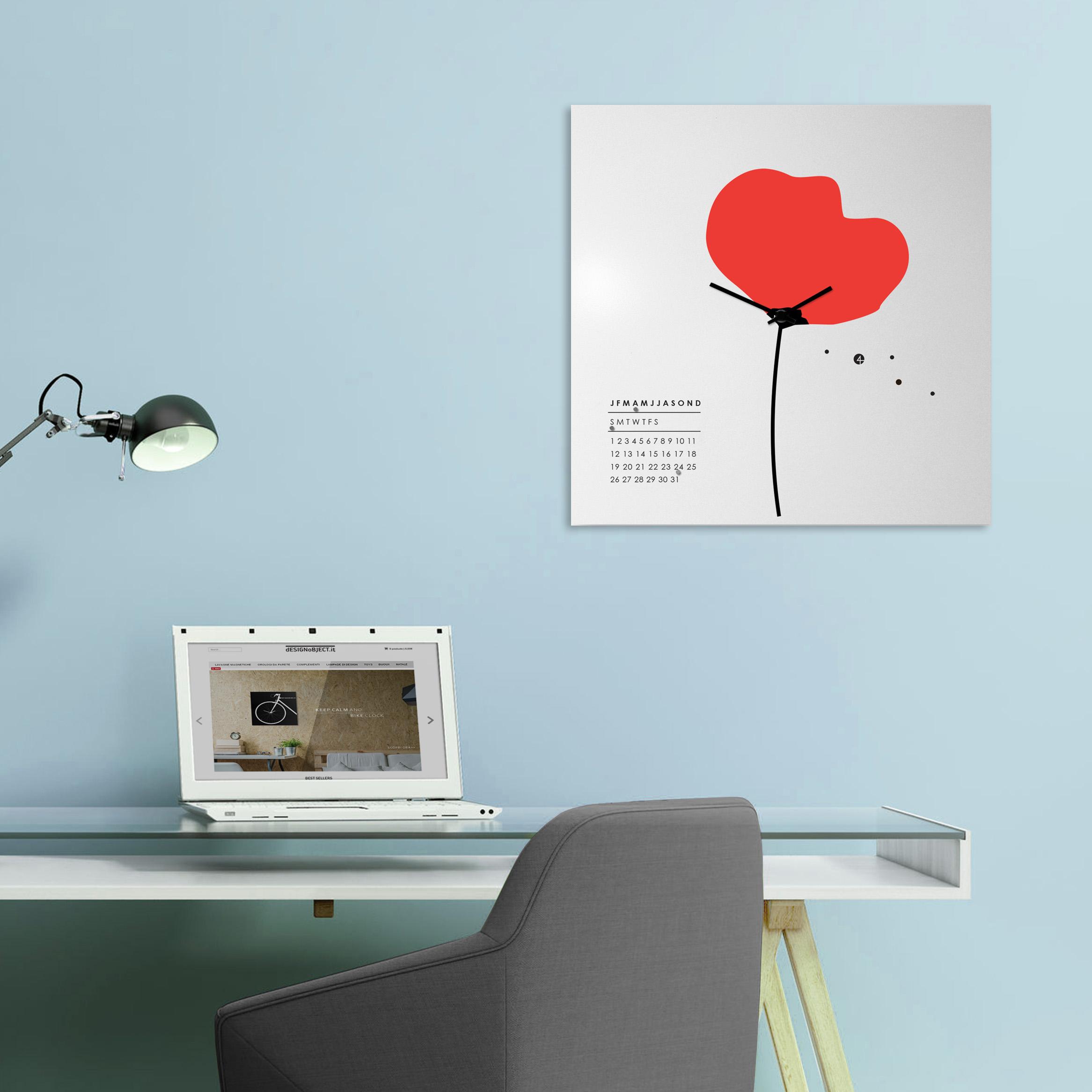 Orologio da parete di design calendario perpetuo designobject - Orologio design parete ...