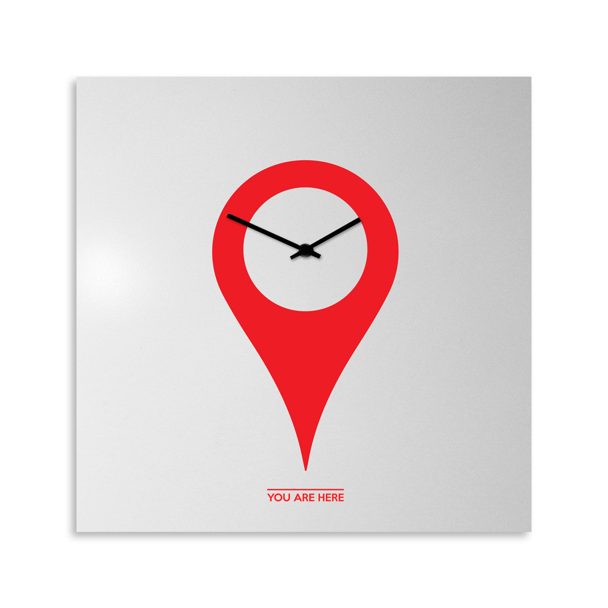 You Are Here: modern, big wall clock. Italian Design