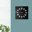 Birds: modern, big wall clock. Italian Design