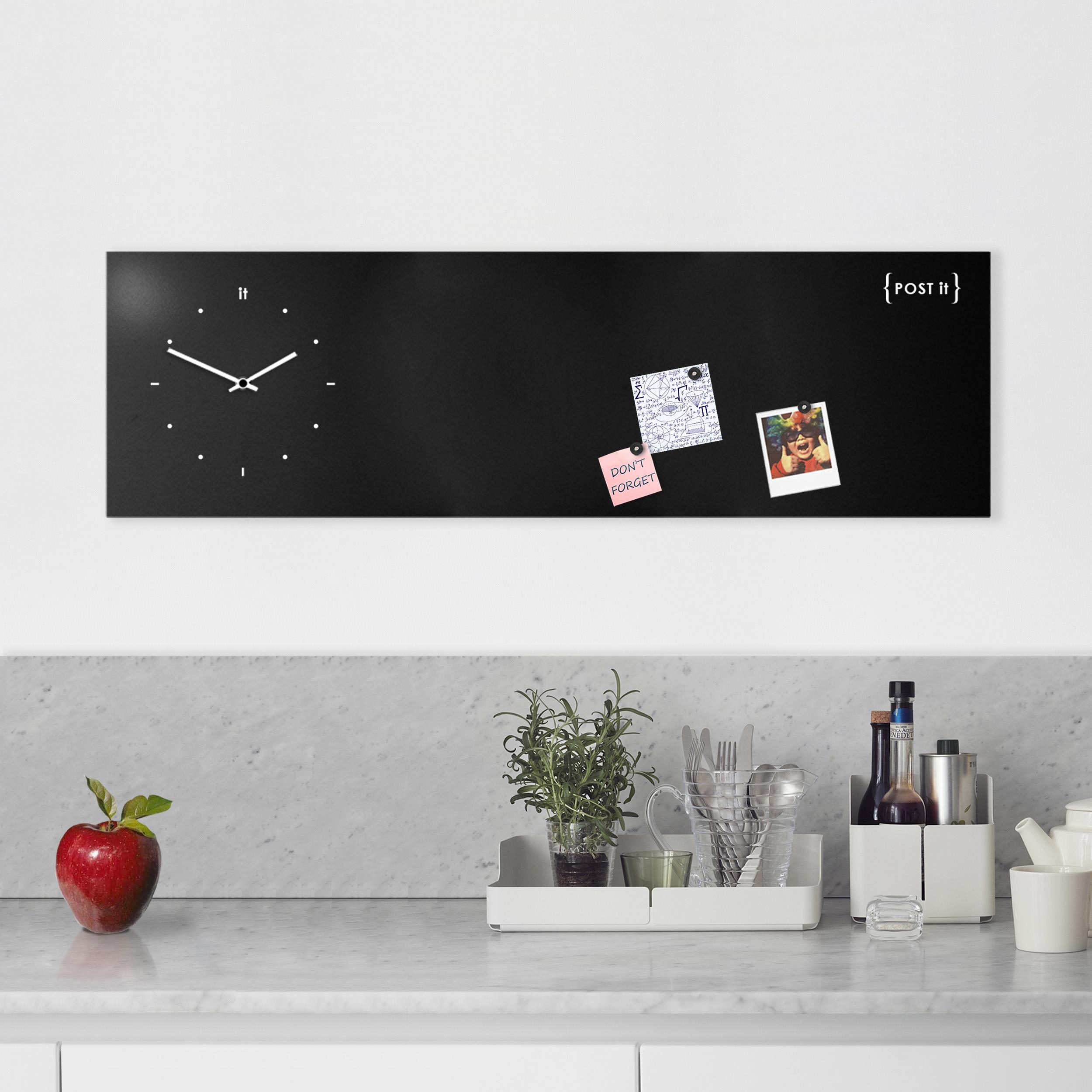 Lavagna Da Parete Cucina design-clock-magnetic-board-orologio-lavagna-magnetica-post