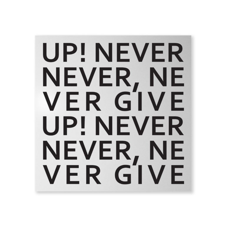 Lavagna magnetica per Ufficio Never Give Up