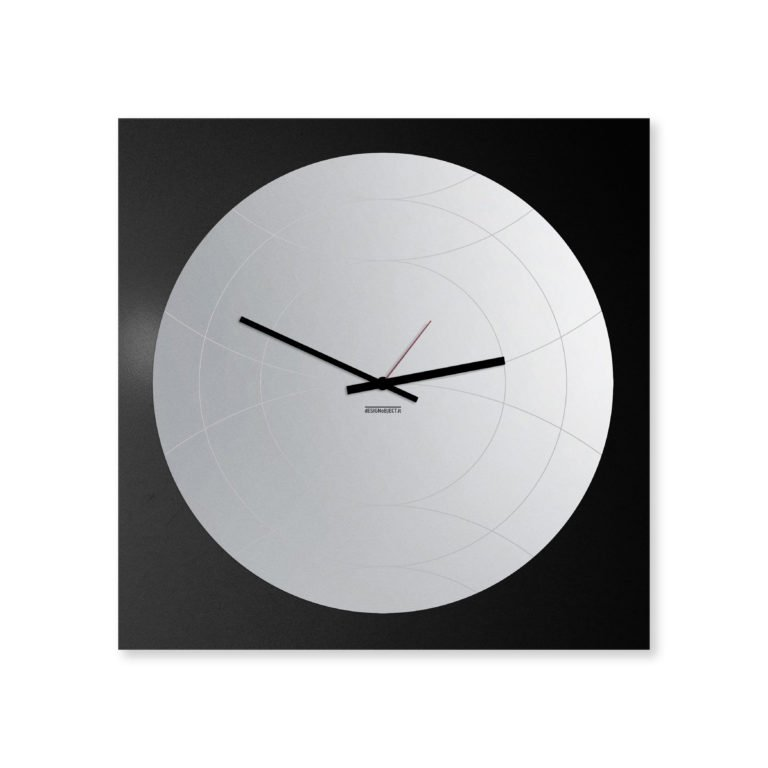 Mirror: modern, big wall clock. Italian Design