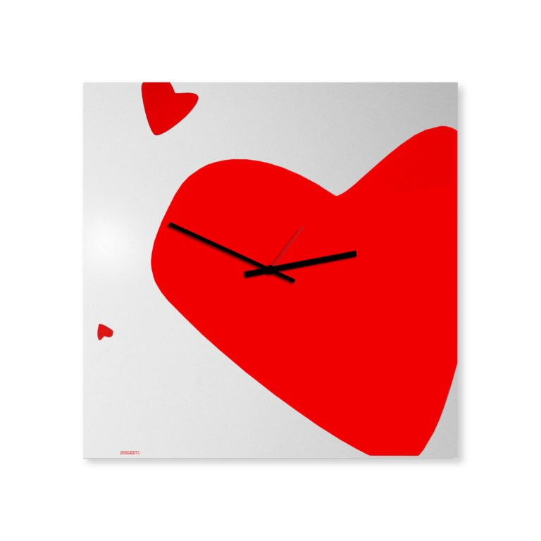 Amore: modern, big wall clock. Italian Design
