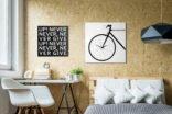orologio da parete bicicletta moderno grande design bike clock