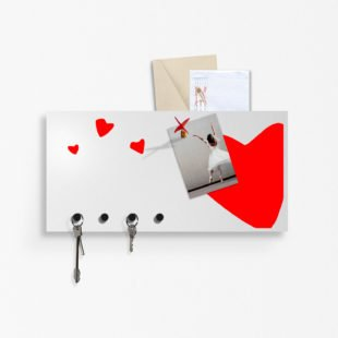 Wall key holder Heart
