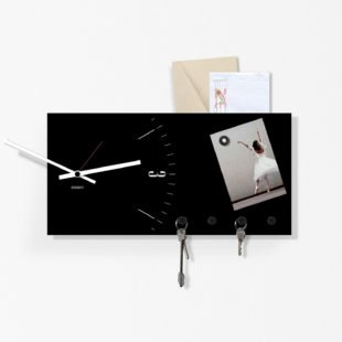 Wall key holder Clock&More