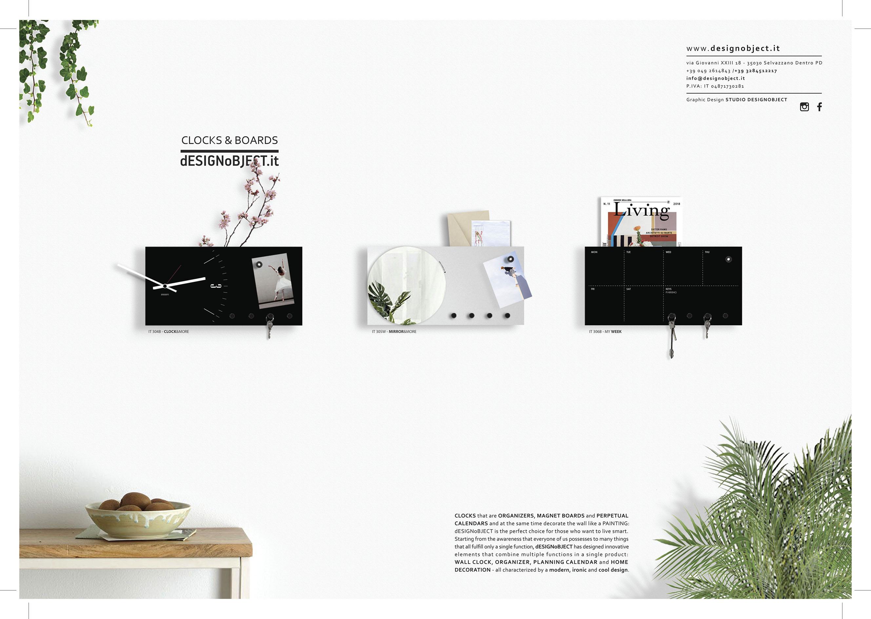 portachiavi da parete design organizer lavagna magnetica