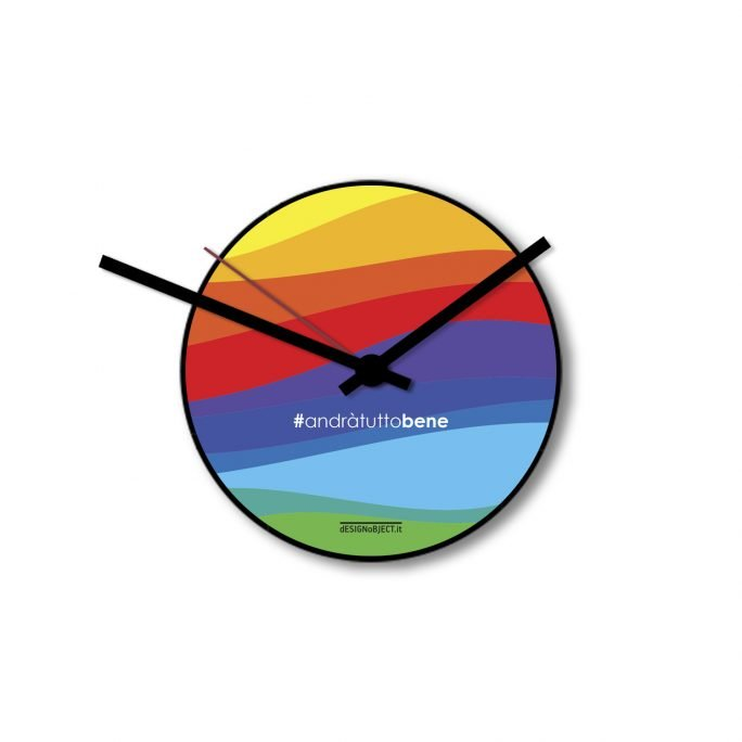 Wall clock Rainbow