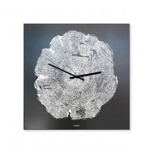 Life Tree Clock Black Steel