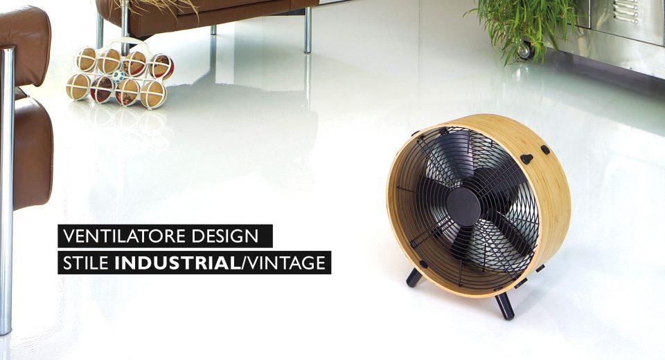 ventilatore da terra design minimalista retrò vintage industrial chic stile elegante lusso