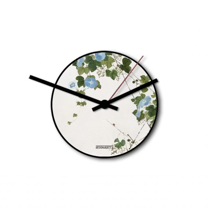 Blue Flowers Clock